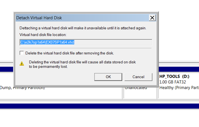 How to mount or attach a VHD in Windows 2008 R2 and Windows